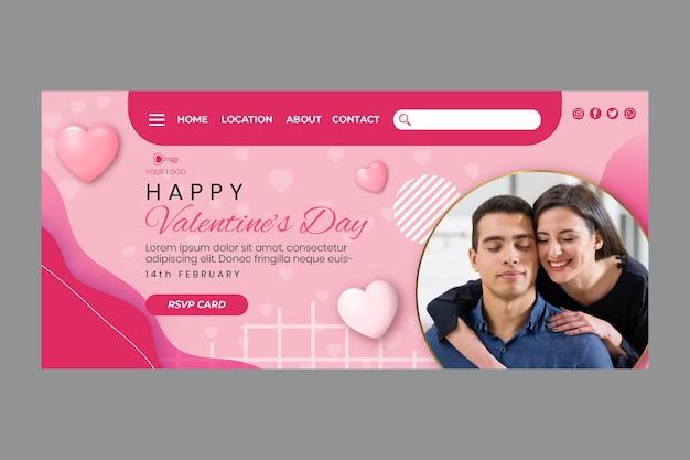 Walentynkowa strona docelowa