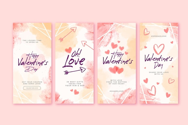 Walentynkowe historie na instagramie