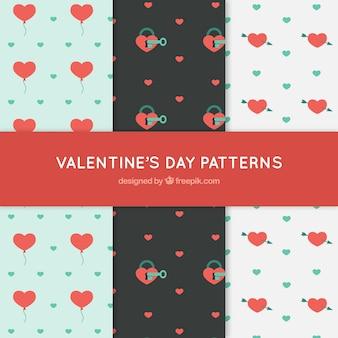 Walentynkowe wzory dekoracyjne serc