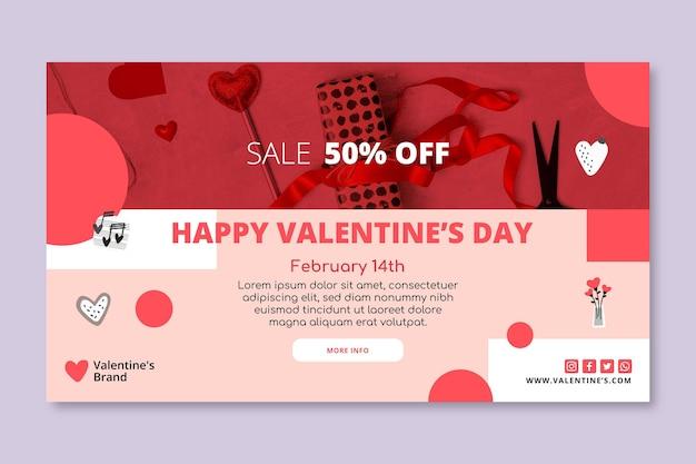 Walentynkowy baner sprzedaży