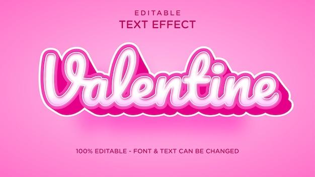 Walentynkowy efekt tekstu czcionki, efekt tekstu 3d