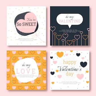 Walentynkowy pakiet postów na instagramie