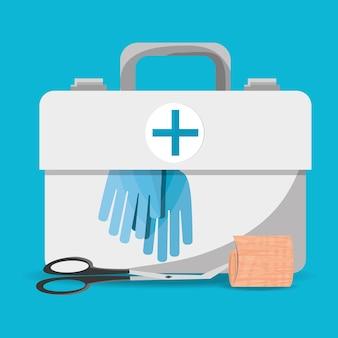 Walizka apteczka z narzędziami medycznymi