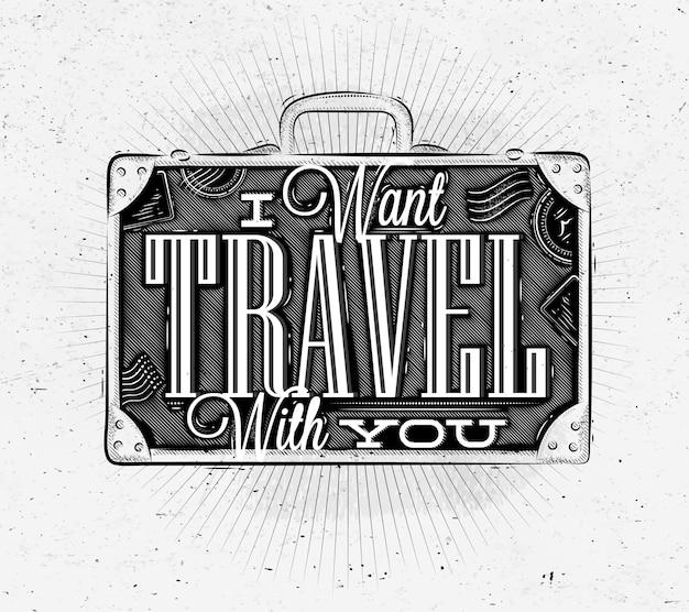 Walizka plakat turystyczny
