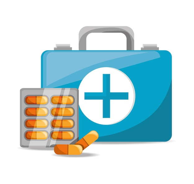 Walizka z pigułki ratownictwo medyczne