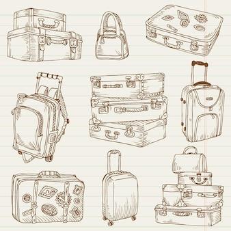 Walizki vintage - do projektowania i notatnika