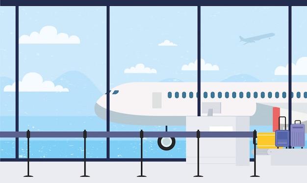Walizki w pasie transportowym na lotnisko