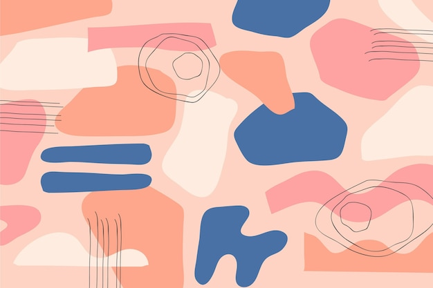 Wallpaer kolorowe abstrakcyjne kształty