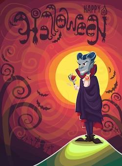 Wampir dracula na halloween