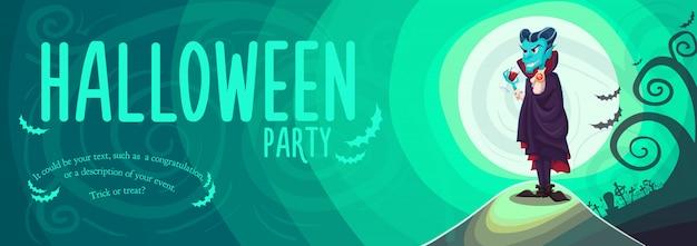 Wampir dracula na transparent halloween