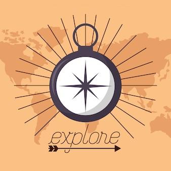 Wanderlust eksploruj krajobraz