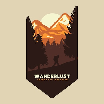 Wanderlust exploring graphic illustration
