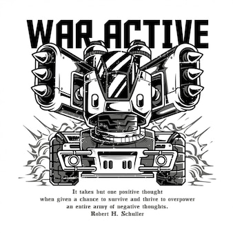 War active black and white