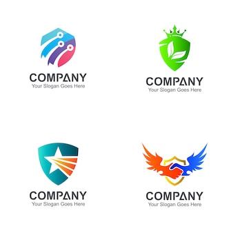 Wariacja szablonów logo tarczy