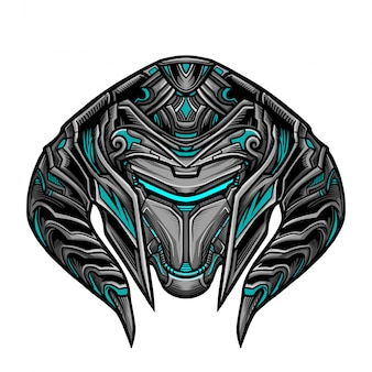Warrior robot blue mask