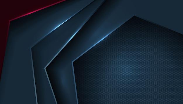 Warstwa abstrakcyjnego kształtu nakłada się na wzór sześciokąta