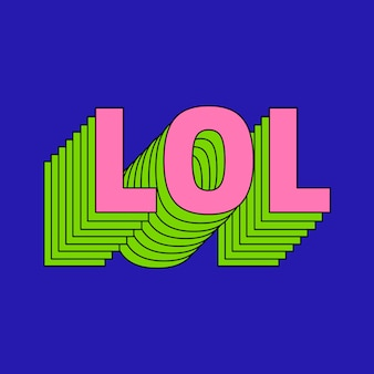 Warstwowa typografia tekstu lol