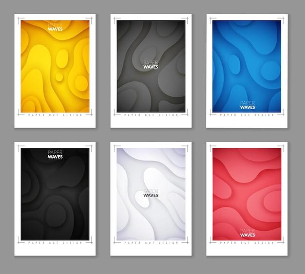 Warstwy abstrakcyjne geometryczne płaski styl