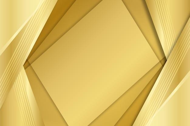 Warstwy kwadratów złoto luksusowe kształty tła