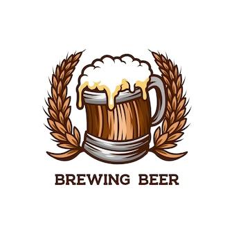 Warzenie piwa w barze z piciem w beczce