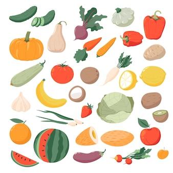 Warzywa i owoce organiczne i naturalne produkty