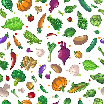 Warzywa wzór rysunek ilustracja projekt