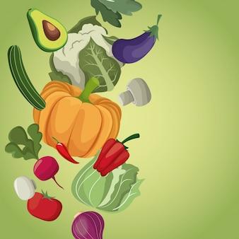 Warzywa zdrowych świeżych składników odżywianie