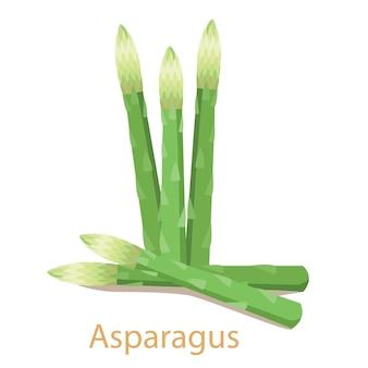 Warzywo szparagi na białym tle