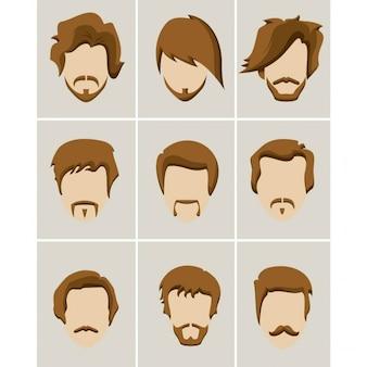 Wąsy broda i włosy