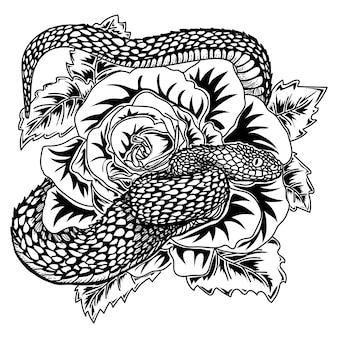 Wąż różany i żmija
