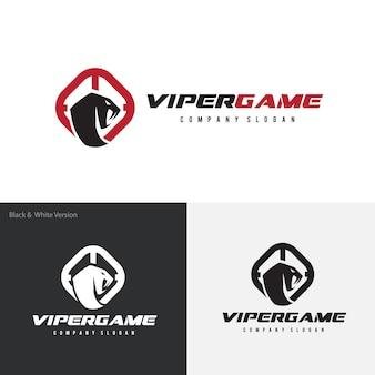 Wąż, venom, szablon logo viper.