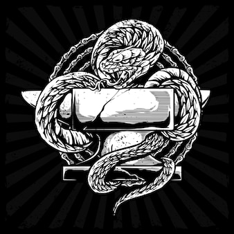 Wąż z ilustracją żelaznego kowadła