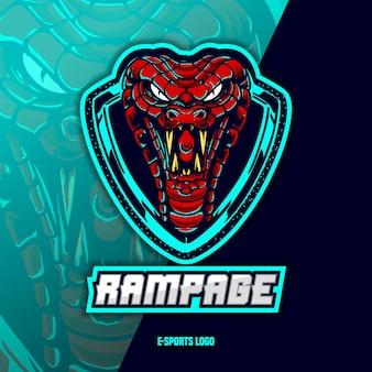 Wąż z logo esport
