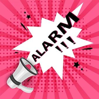 Ważna wiadomość uwaga proszę baner priorytetowe porady zwracając uwagę alarm mowy plakat
