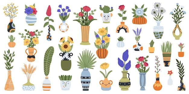 Wazony z kwiatami