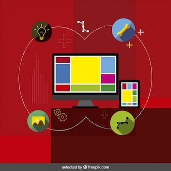 Web design infografika