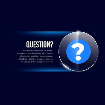 Web helo i szablon wsparcia ze znakiem zapytania