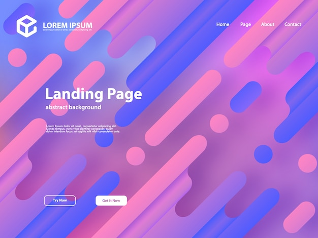 Web landing page szablon tło z abstrakcyjnego projektu