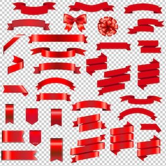 Web wstążki i kokarda zestaw z ilustracji gradientu mesh