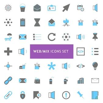Web zestaw ikon mix