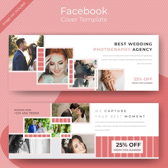 Weeding facebook cover template