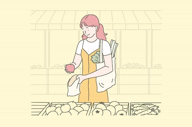 Wegańskie jedzenie, gospodyni domowa, eko.