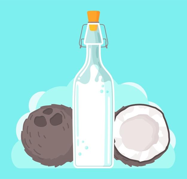 Wegańskie mleko kokosowe na bazie roślin