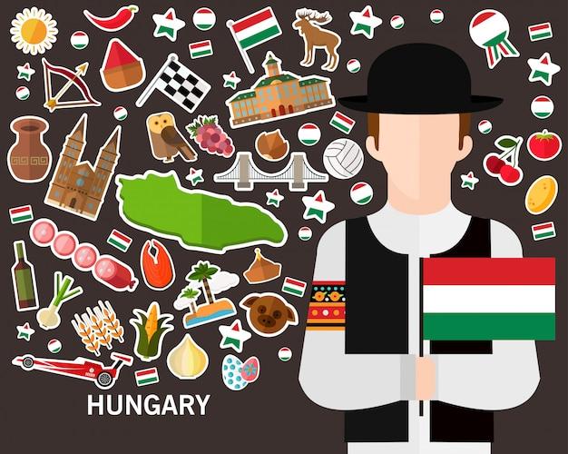 Węgry koncepcja tło