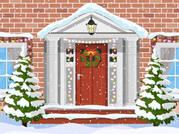 Wejście do domu podmiejskiego