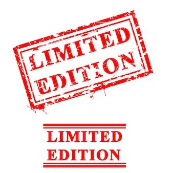 Wektor 2 styl grungy czerwonej pieczątki, edycja limitowana