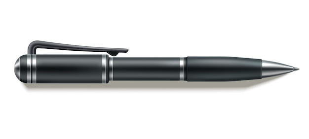 Wektor 3d długopis makieta projekt papeterii