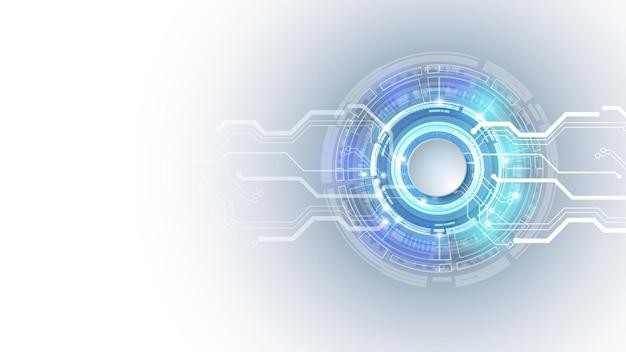 Wektor 3d projekt koło papieru z obwodem elektrycznym. zaawansowana technologicznie sieć cyfrowa, komunikacja, zaawansowana technologia. eps 10.