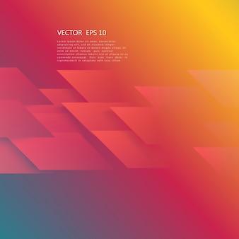 Wektor abstrakcyjna geometryczny kształt z czerwonym