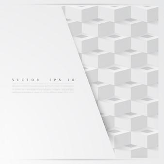 Wektor abstrakcyjna geometryczny kształt z kostek.